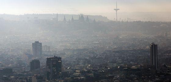 Uma imagem da contaminação em Barcelona.