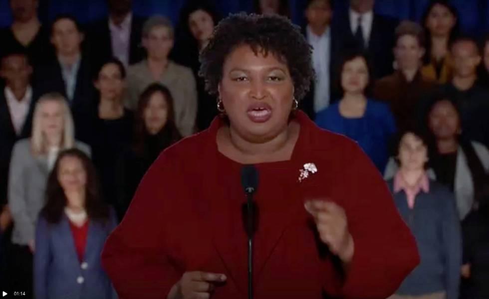 Stacey Abrams, durante seu discurso