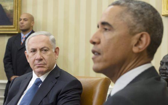 Netanyahu e Obama durante encontro na Casa Branca na quarta-feira.