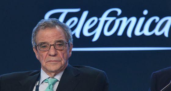 César Alierta no conselho de acionistas da Telefônica.