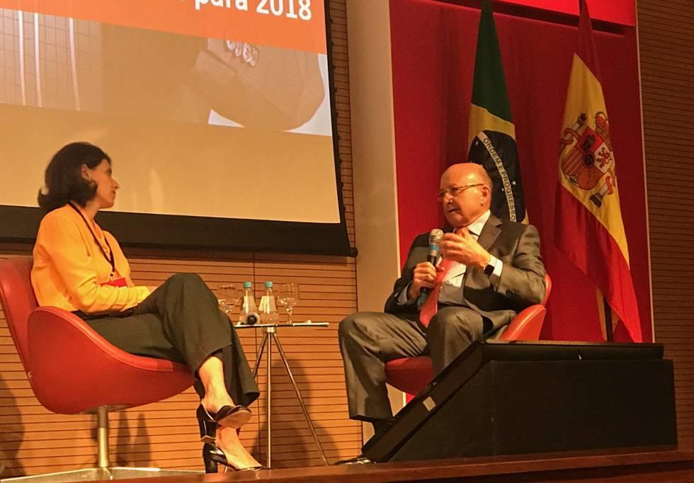 Economistas Alessandra Ribeiro e Maílson da Nobrega.