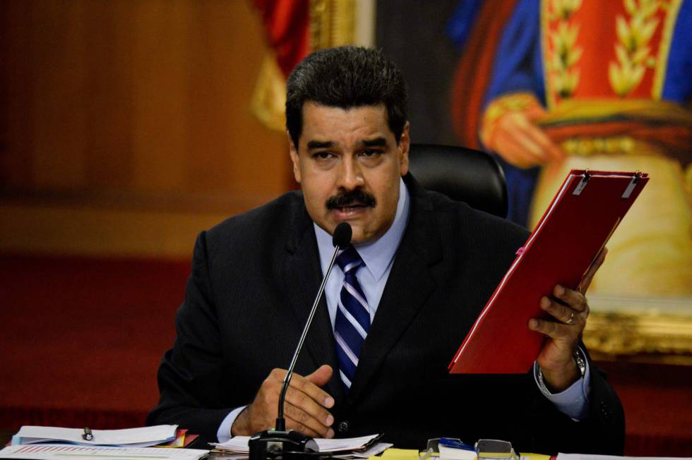 "O presidente da Venezuela, Nicolás Maduro, acusa Almagro de ""traidor""."