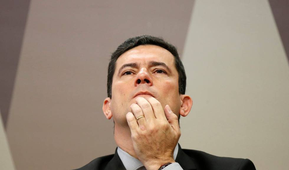 O ministro Sergio Moro em audiência no Senado nesta quarta.