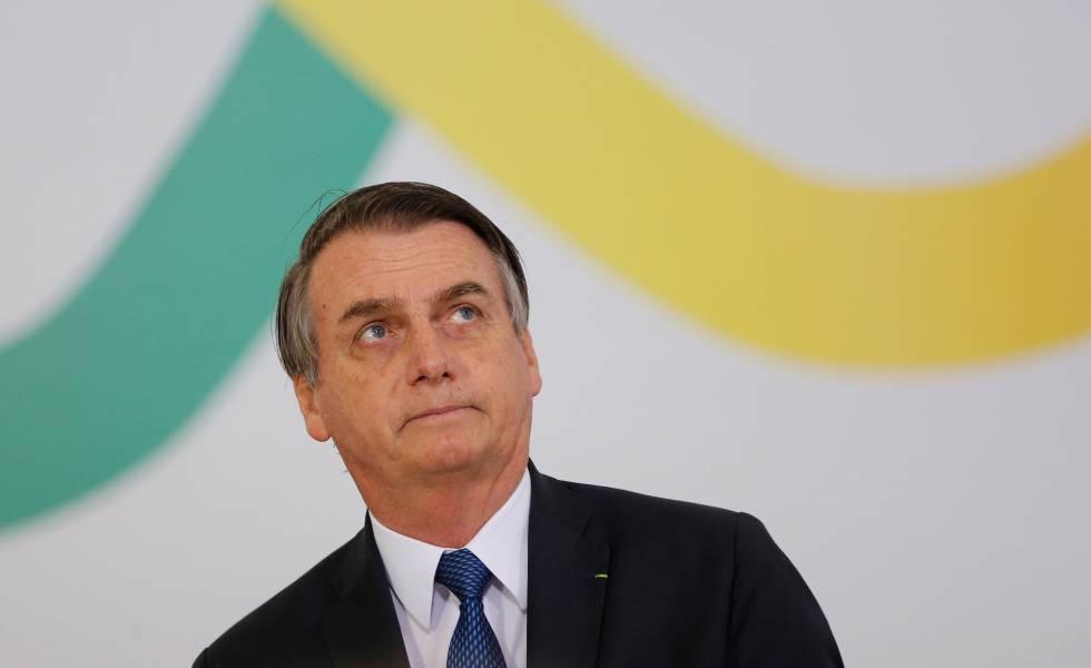 Jair Bolsonaro durante cerimônia que marcou os 100 dias do Governo.