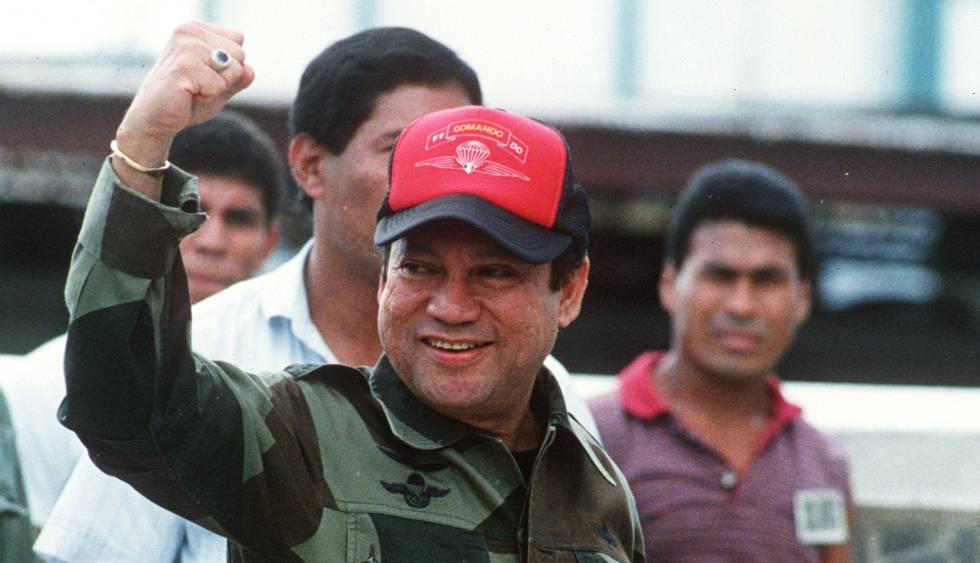 Manuel Antonio Noriega, em 1989, na Cidade do Panamá.