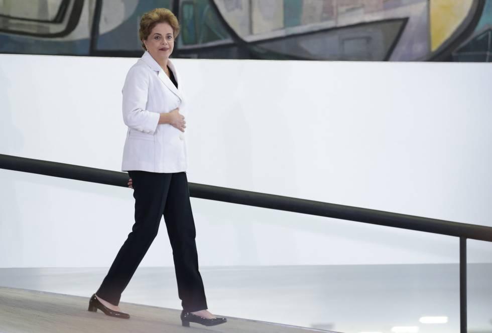 Dilma Rousseff, no Planalto nesta teça feira.