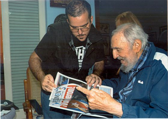 Fidel Castro, em fotografia publicada no Granma.