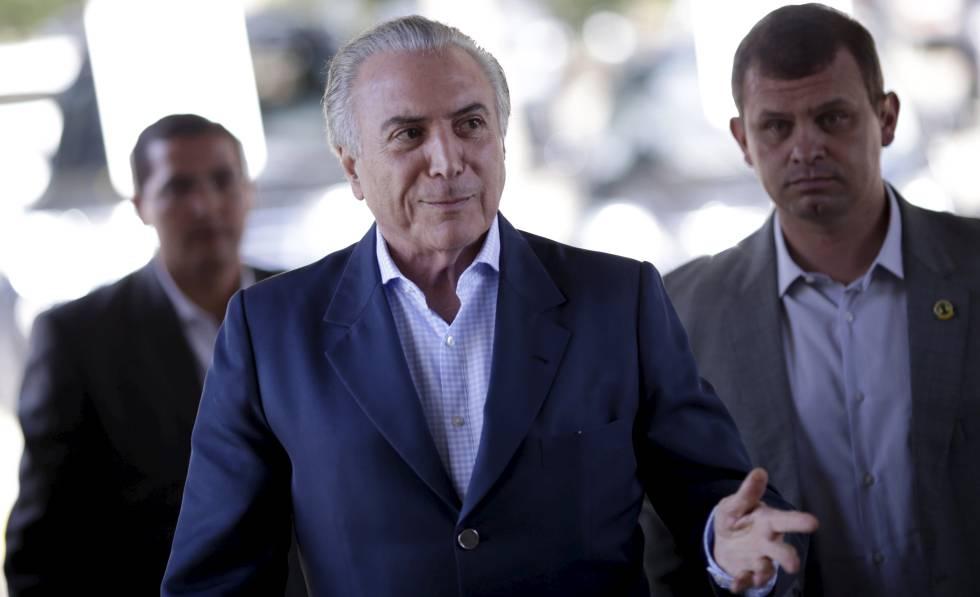 O presidente interino do Brasil, Michel Temer.