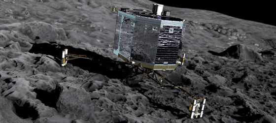 A sonda Rosetta da Agência Espacial Europeia.