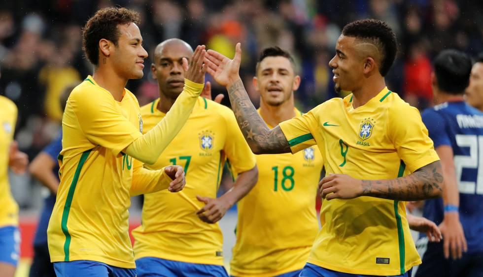 Neymar e Gabriel Jesus marcaram na vitória sobre o Japão.