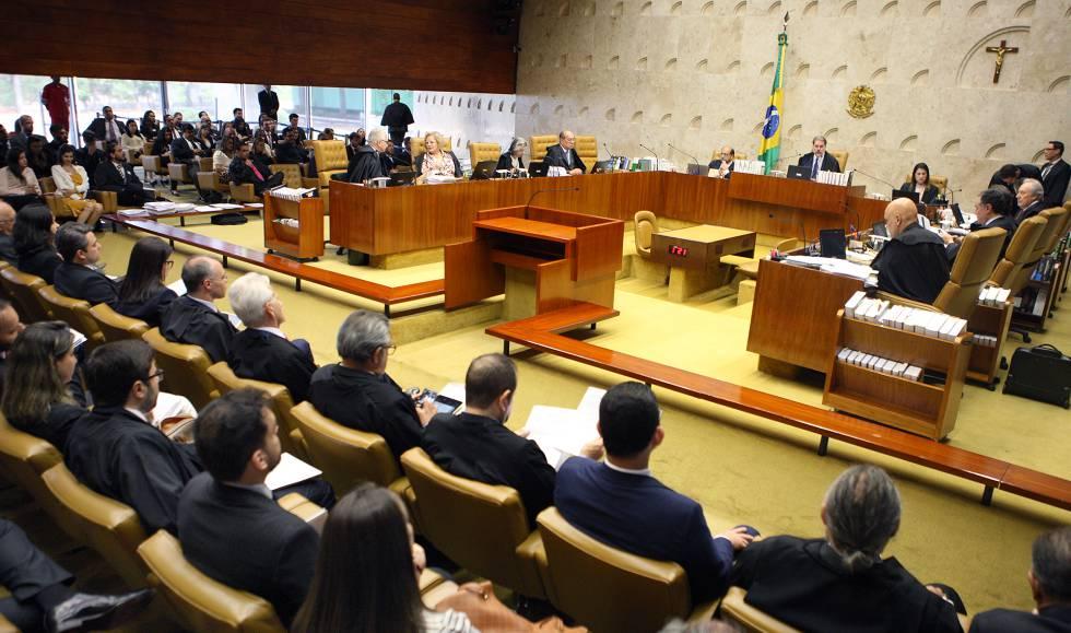 Sessão plenária do STF, nesta quarta-feira em Brasília.