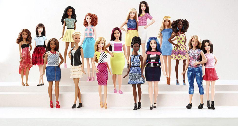 As novas bonecas 'Barbie' lançadas pela Mattel.