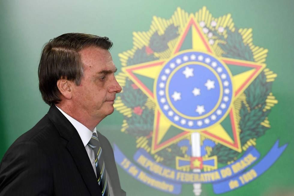 Bolsonaro, durante a cerimônia de posse do novo ministro da Educação, na semana passada.