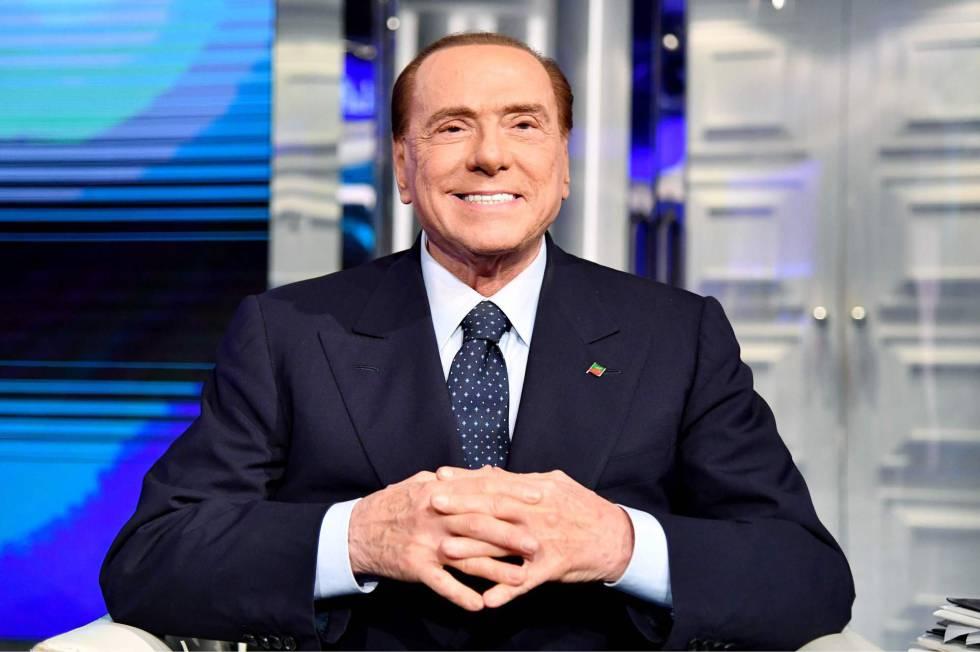 O líder do Força Itália, Silvio Berlusconi, em Roma na sexta-feira, 2 de março
