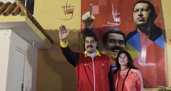 Nicolás Maduro e sua mulher, Cilia Flores.