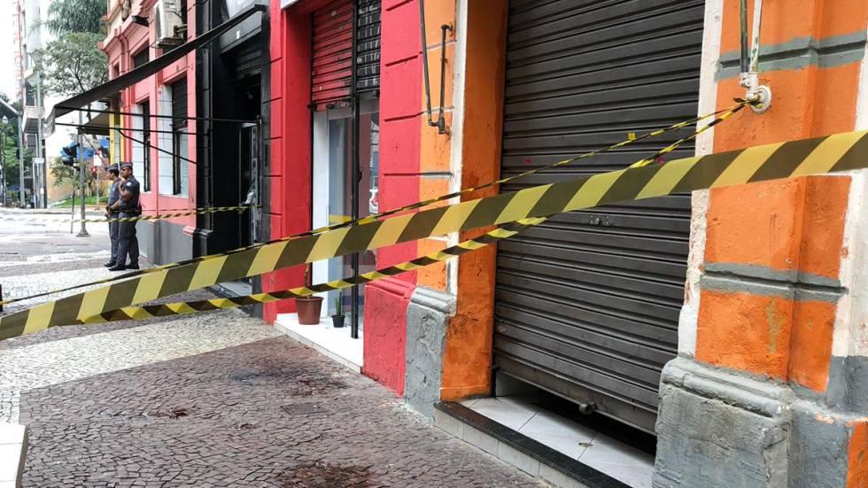 Local onde a vítima foi esfaqueada