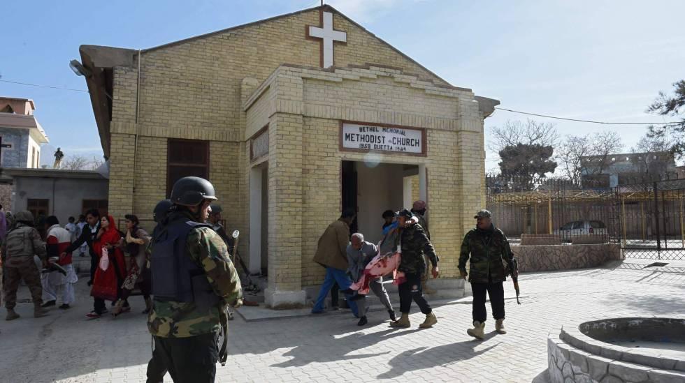 A igreja logo após o atentado