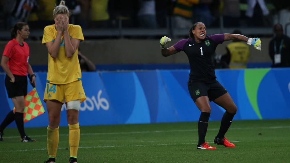 A goleira Bárbara classificou o Brasil.