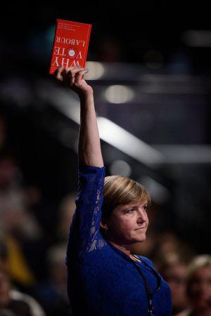 Uma delegada na conferência anual dos trabalhistas, neste domingo, em Manchester.
