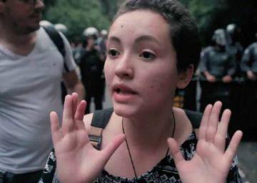 Laís Lillandra havia entrado em contato na véspera do ato com o EL PAÍS para contar sobre a ideia de fazer protesto artístico