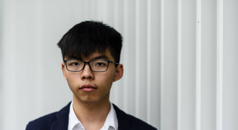 Joshua Wong, o 20 de junho em Hong Kong.