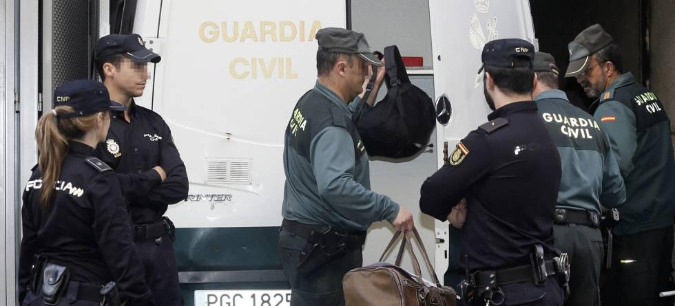 Chegada dos detidos na Operação Púnica à Audiência Nacional.