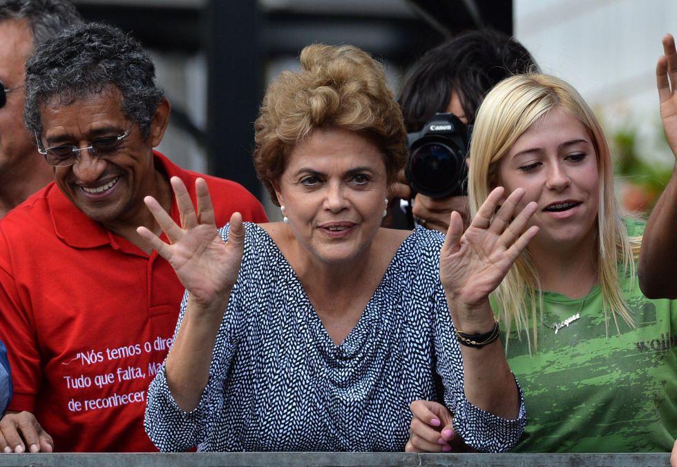 Dilma, no sábado em São Bernardo do Campo, quando visitou Lula.