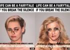"""Um artista transforma fotos de famosas em uma campanha para que as vítimas da violência machista """"quebrem seu silêncio"""""""