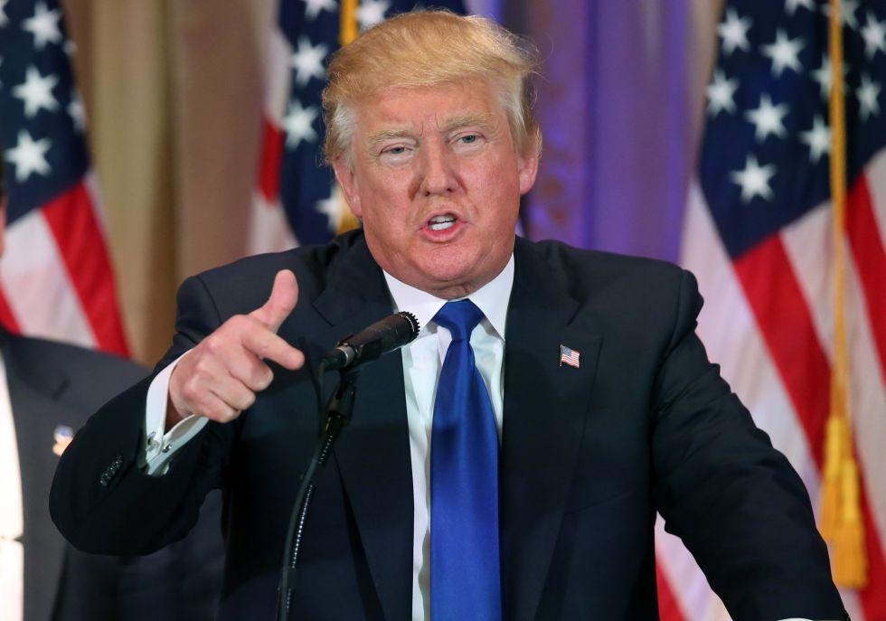 Donald Trump celebra sua vitória na Superterça.