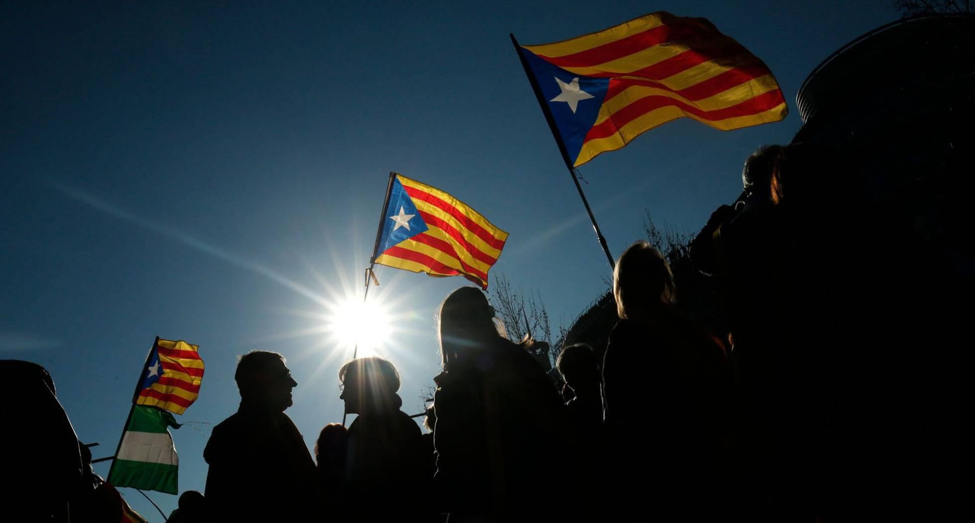 Manifestação contra o julgamento do 'próces', em Barcelona.