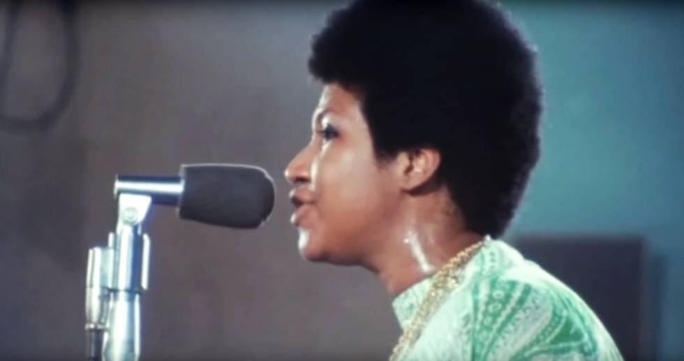 Aretha Franklin, em 'Amazing Grace'.