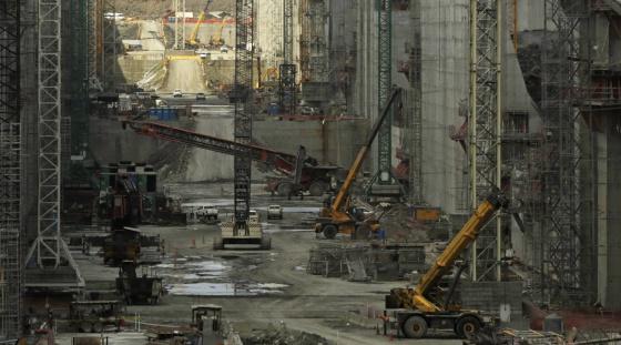 Obras da ampliação do Canal do Panamá.