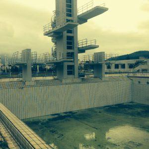 Aspecto atual da piscina da Vila Olímpica.