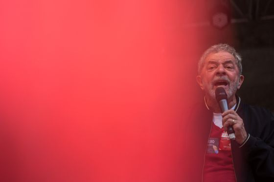 Lula da Silva, em um ato pelo Dia do Trabalho em São Paulo.