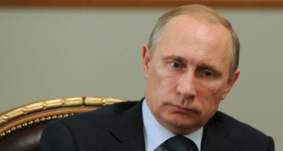 Vladimir Putin, em sua residência em Moscou.