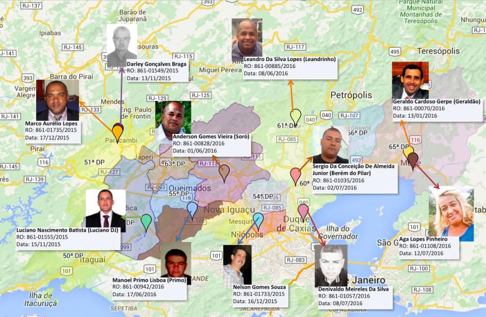 A polícia investiga as motivações dos assassinatos de pré-candidatos e vereadores na Baixada.