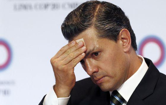 O presidente Peña Nieto na cúpula climática no Peru.
