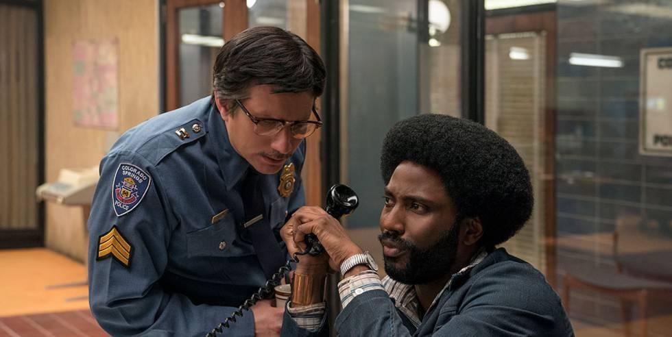 Ken Garito (esquerda) e John David Washington, em 'Infiltrado no KKKlan'.