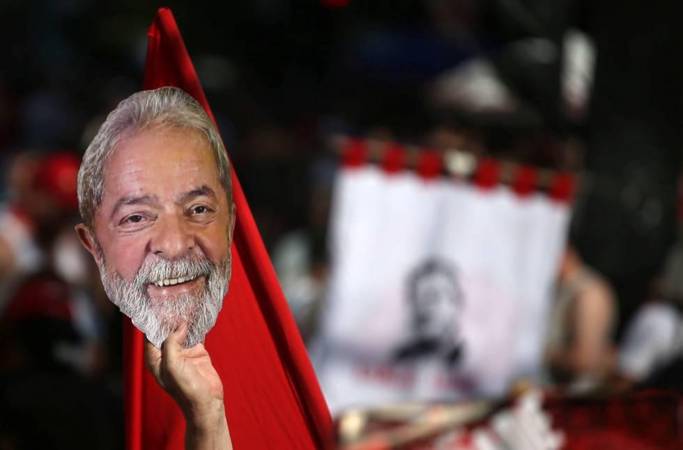 Protesto a favor da liberdade de Lula, no dia 13, em São Paulo.