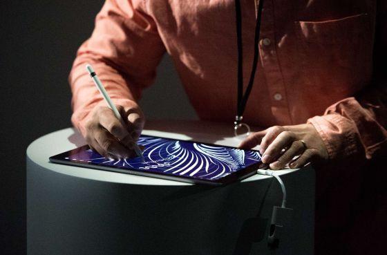 O tablet iPad Pro durante apresentação em 9 de setembro.
