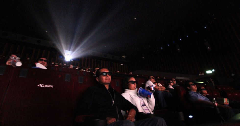 Uma uma sala de cinema na Cidade de México.