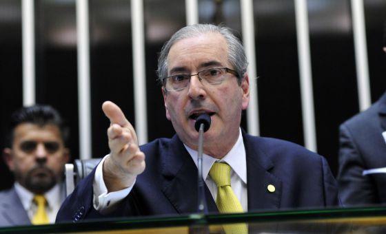 Eduardo Cunha, durante a votação.