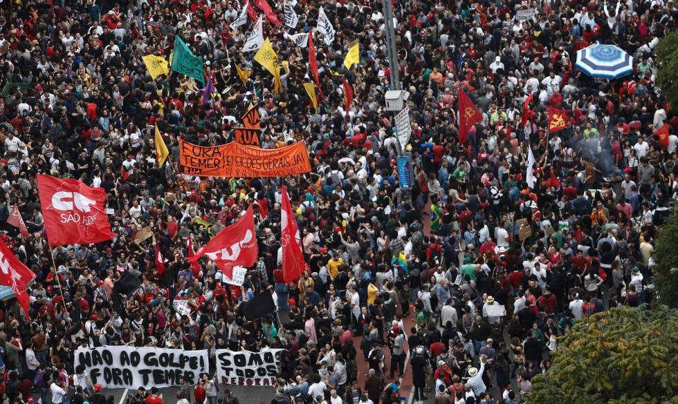 Ato contra Temer em São Paulo