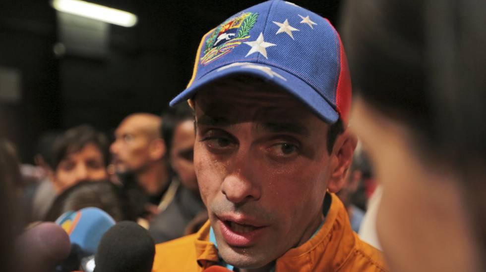 Líder da oposição venezuelana Henrique Capriles