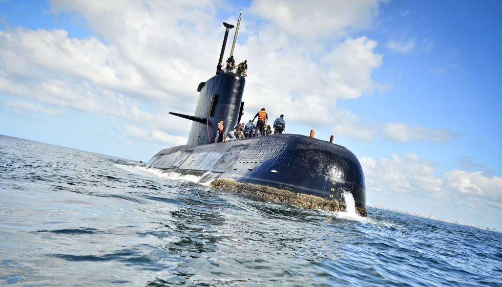 O submarino argentino ARA San Juan em uma foto de arquivo