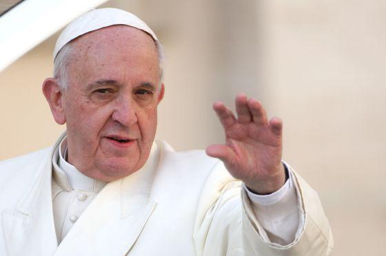 O papa Francisco, durante sua audiência semanal.