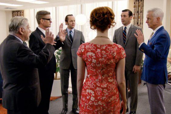 Cena do seriado 'Mad Men'.