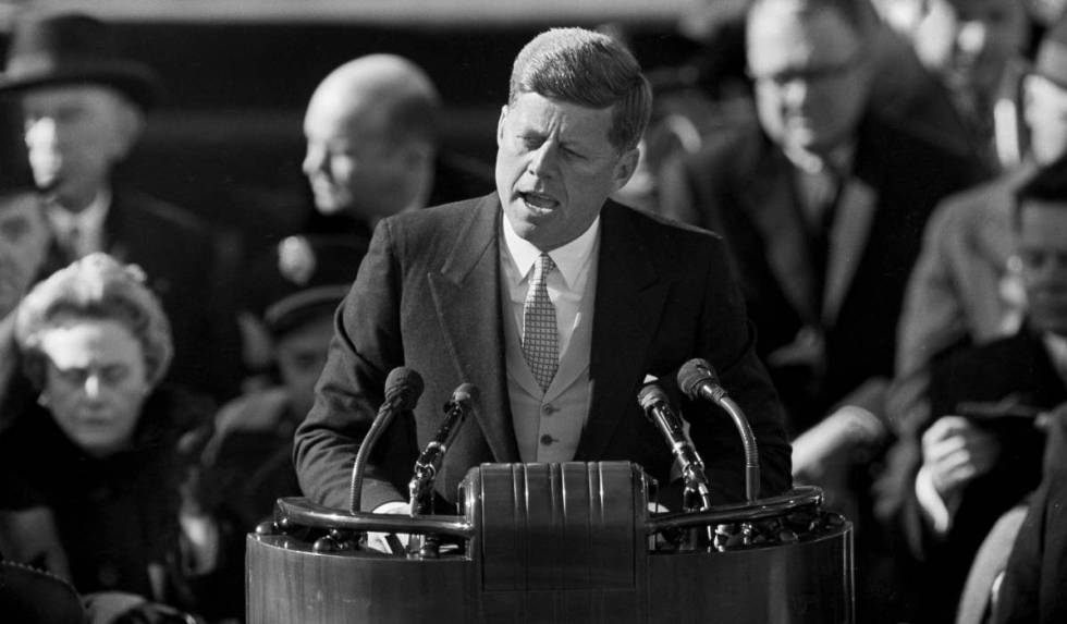 John F. Kennedy em sua posse em 1961