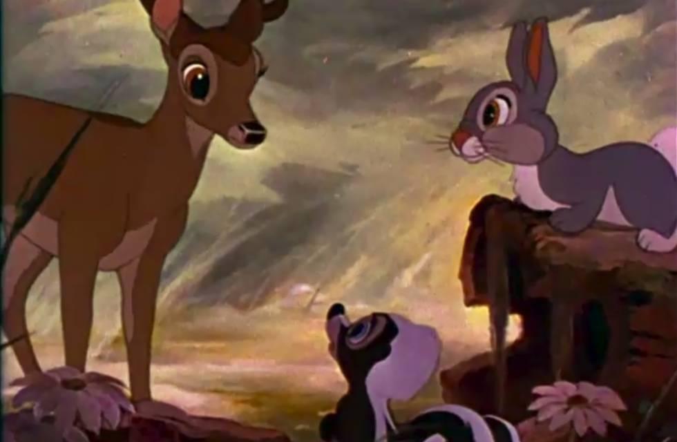 Um fotograma do filme 'Bambi'.