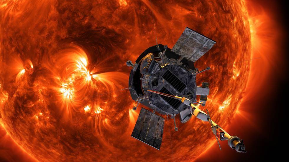Ilustração da Sonda Solar Parker.